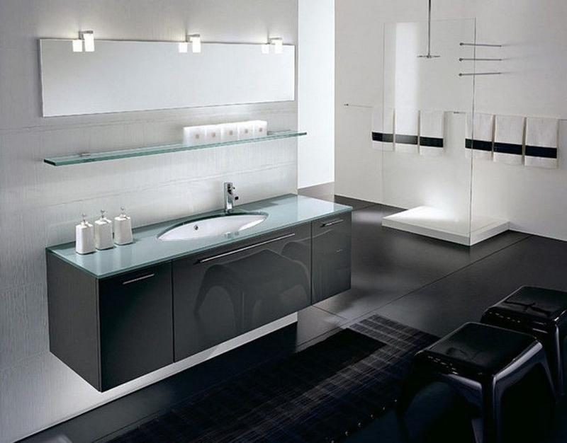 12 Bathroom black ideas – photos, ideas, pictures - Rilane
