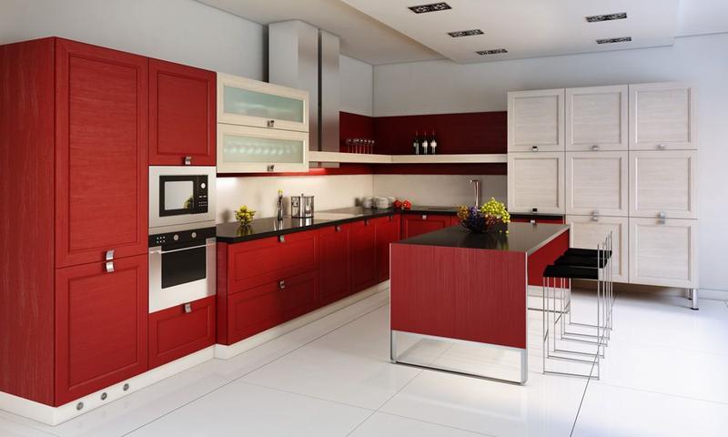 Ideas Red Kitchen Design Inspiration Rilane