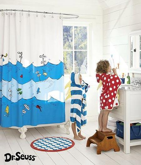 Elegant Dr. Seuss Shower Curtain By Pottery Barn