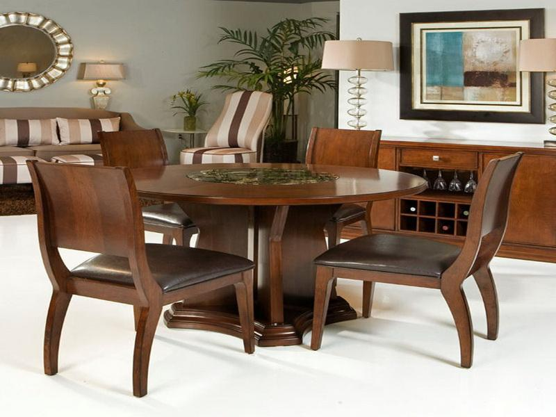 Designer Round Dining Tables: Expandable Round Dining Table