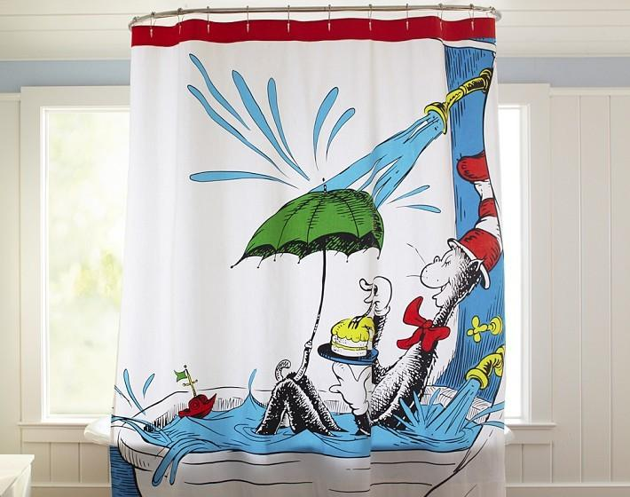 Merveilleux Adorable Dr. Seuss Shower Curtain