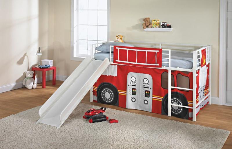 Kids Bedroom Slide kids loft bed with slide – design, ideas, photos - rilane