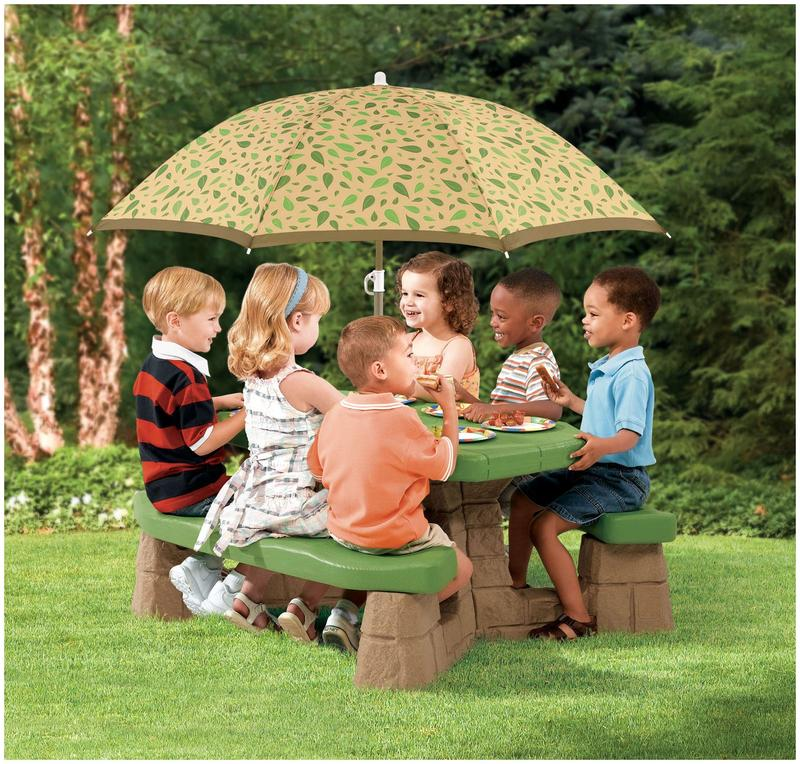 Kids picnic table with umbrella – Photos, Ideas