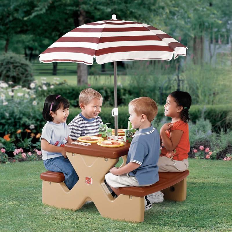 Kids Picnic Table With Umbrella Photos Ideas Rilane