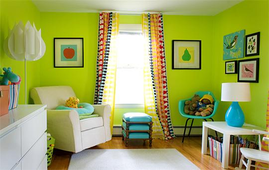 Neon Green. 10 Vibrant Kid s Bedroom Paint Color Ideas   Rilane