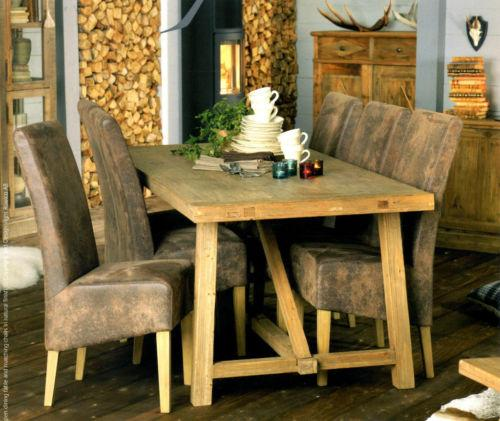 Rustic Reclaimed Wood Dining Table. Image Source Ebay