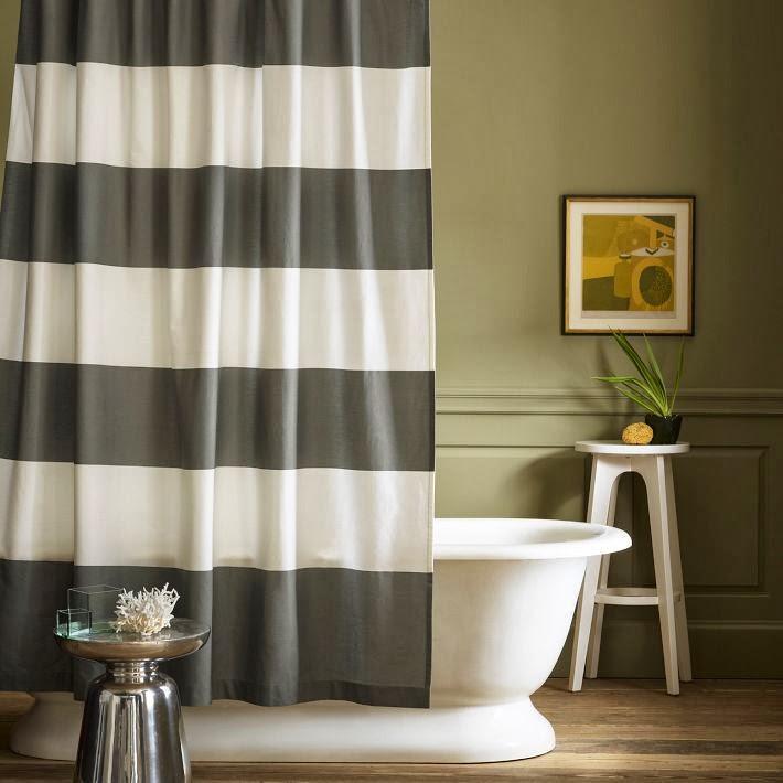 black white striped shower curtain. Contemporary Black and White Shower Curtain Striped for Stylish Bathroom  Rilane