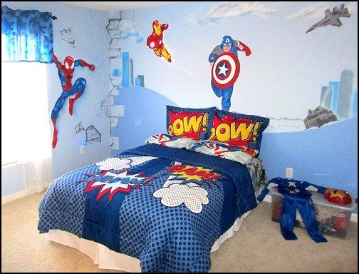 superhero wallpaper for bedroom. Avengers Inspired Bedroom 10 Cool Superhero Bedrooms for Boys  Rilane
