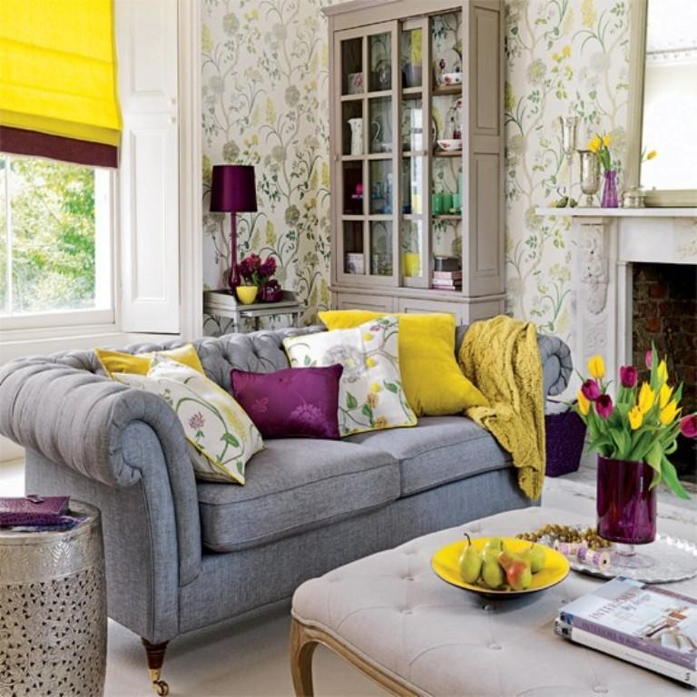 20 sumptomous living room wallpaper designs rilane for Bright wallpaper for living room