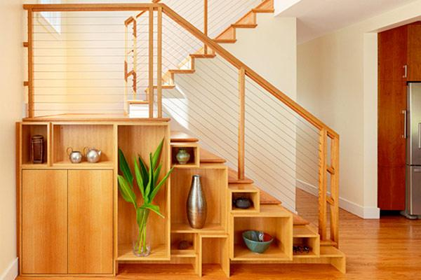 Decorative Shelves Under The Stairs