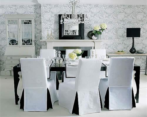 Dining room chair slipcovers – photos, inspiration - Rilane