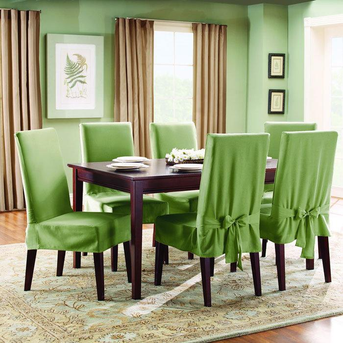 Dining room chair slipcovers – photos inspiration Rilane