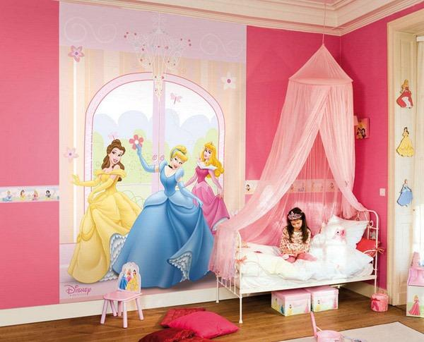 10 adorable princess themed girls bedroom ideas rilane for Princess bedroom