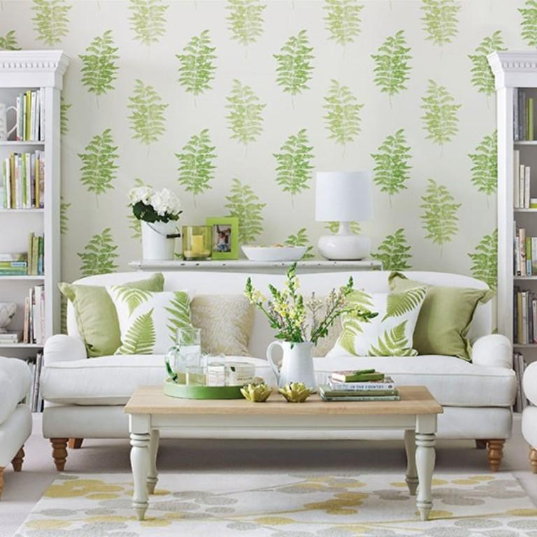 Designer Wallpaper Ideas Photos: 20 Sumptomous Living Room Wallpaper Designs