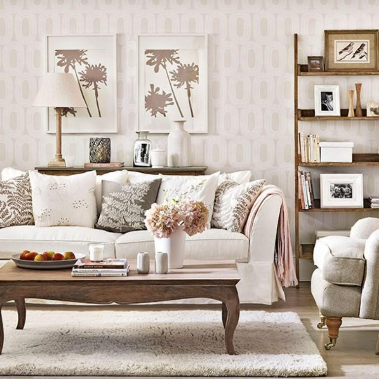 Monochrome Geometrical Wallpaper Image Source Ideal Home