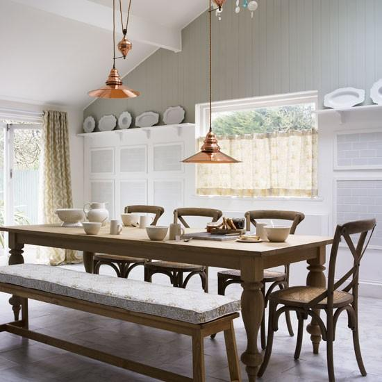 Natural Dining Room With Exposed Stonework