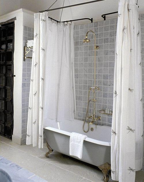 Curtains Ideas claw foot tub shower curtain : Oval shower curtain rod – inspiration, photos - Rilane