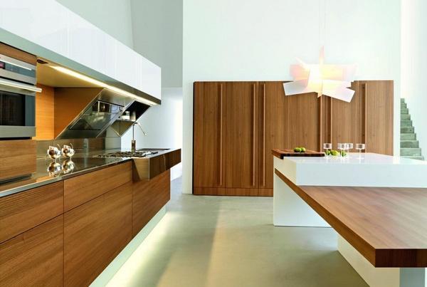 Sleek Elm Wood Kitchen