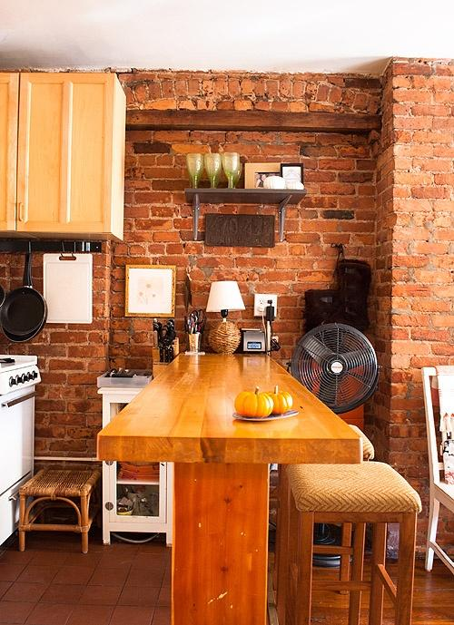 Swell 15 Cool Kitchen Design With Exposed Brick Walls Rilane Home Remodeling Inspirations Genioncuboardxyz