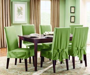 Dining room chair slipcovers – photos, inspiration