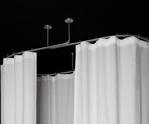 Oval shower curtain rod – inspiration, photos