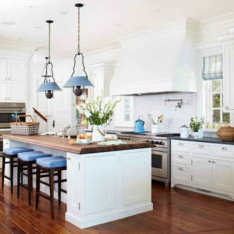 traditional kitchen with blue accents 20 traditional kitchen design ideas   rilane  rh   rilane com