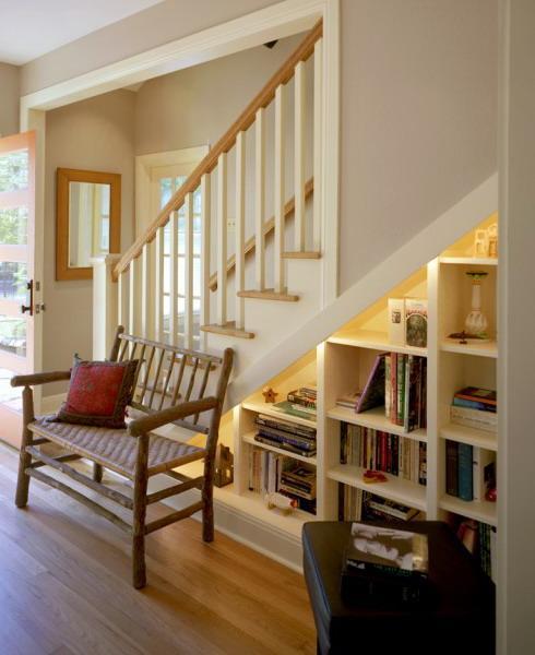 Under Stairs Library & 20 Ingenious Under Stairs Storage Ideas - Rilane