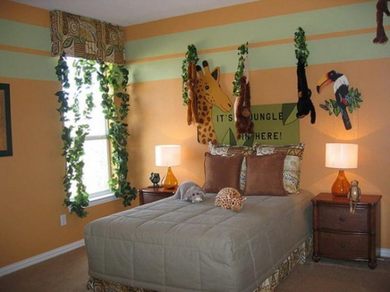 Bedroom Decor Themes 20 jungle themed bedroom for kids - rilane