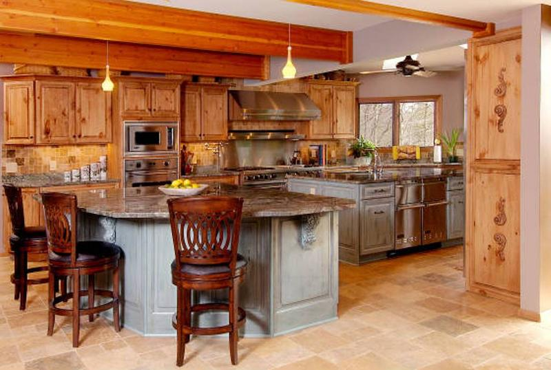 rustic kitchen cabinet designs. Airy Kitchen with Unfinished Pine Cabinets 10 Rustic Designs