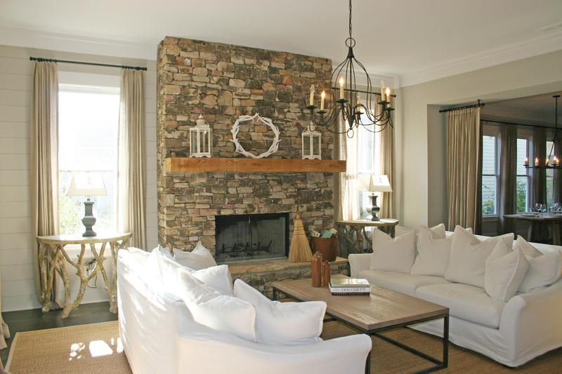 Living Room Design With Stone Fireplace stunning living rooms with stacked stone fireplace - rilane