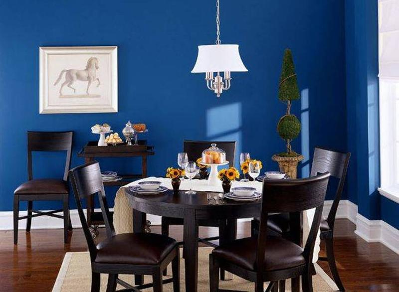 Amazing Blue Dining Room