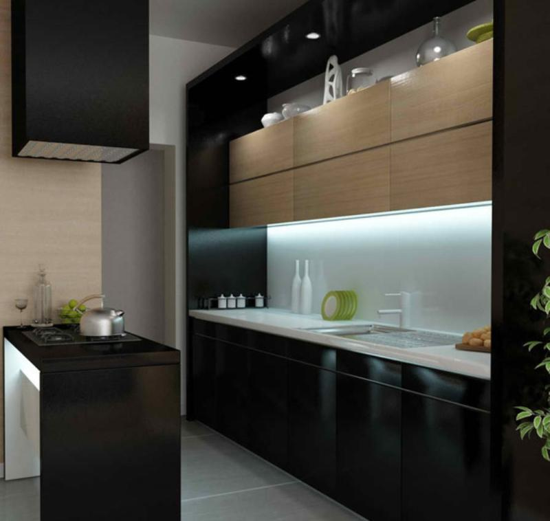 15 contemporary kitchen with black cabinets rilane for Kitchen black cupboards
