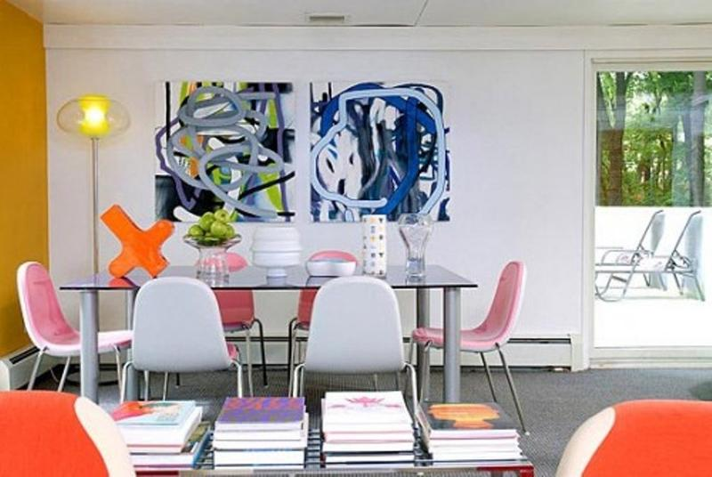 Artistic Colorful Dining Room