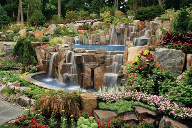 Backyard Waterfalls Ideas backyard waterfall ponds pictures Relaxing Backyard Waterfalls Ideas