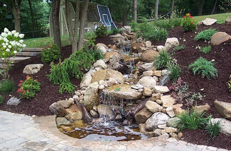backyard garden waterfall - Garden Waterfalls