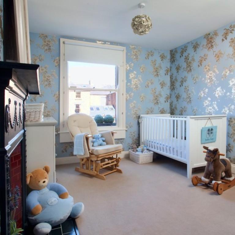 10 beautiful wallpaper designs for girl s bedroom rilane - Blue bedroom wallpaper ideas ...