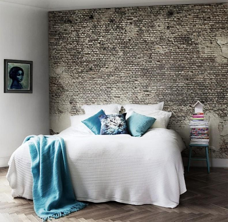 Modern Bedroom Designs With Exposed Brick Walls Rilane - Bedrooms brick walls