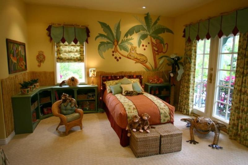 Good Beautiful Jungle Inspired Bedroom For Kids