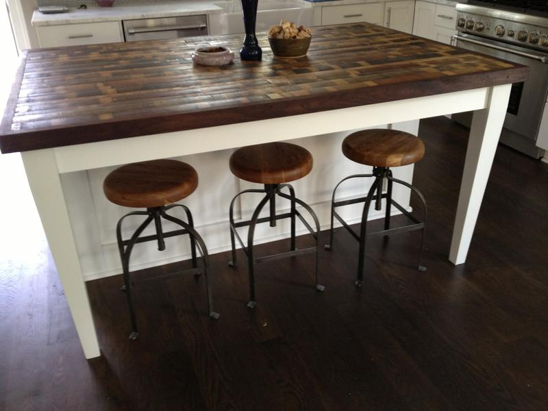 Beautiful Reclaimed Wood Kitchen Island