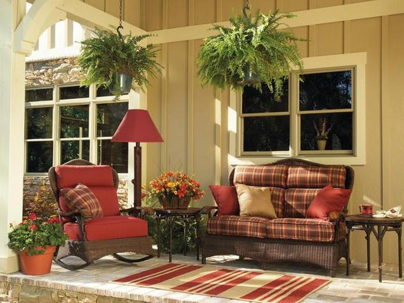 10 small porch decorating ideas rilane for Beautiful veranda designs