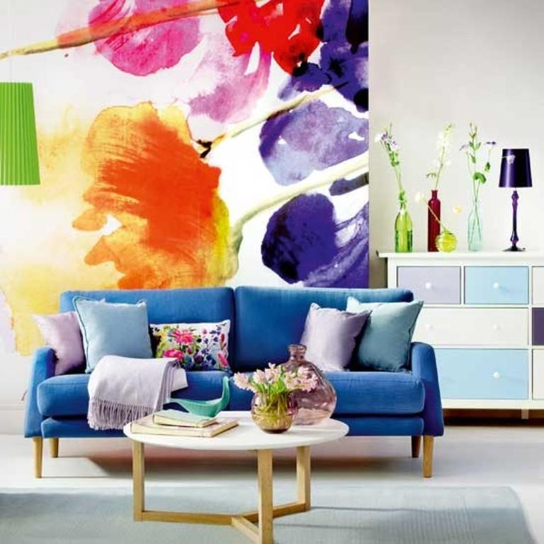 20 Cool Living Rooms with Statement Artwork