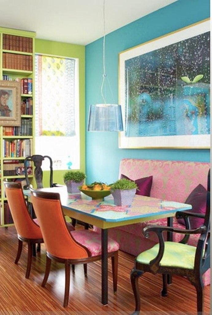 Perfect Bohemian Colorful Dining Area
