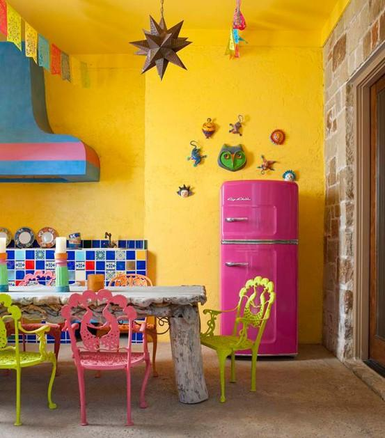 15 Vibrant And Colorful Kitchen Design Ideas Rilane - Colorful-kitchen-design