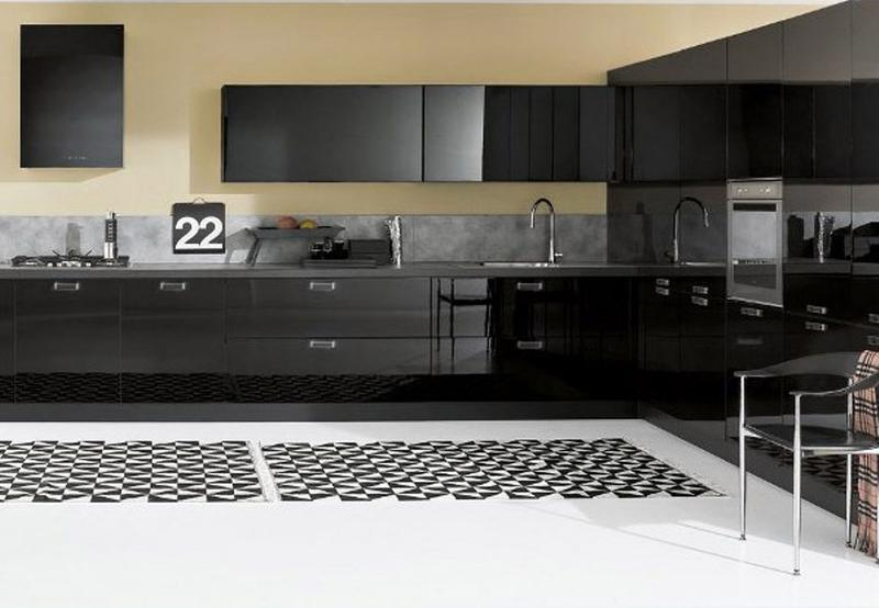 whimsical kitchen floor 15 contemporary kitchen with black cabinets rilane
