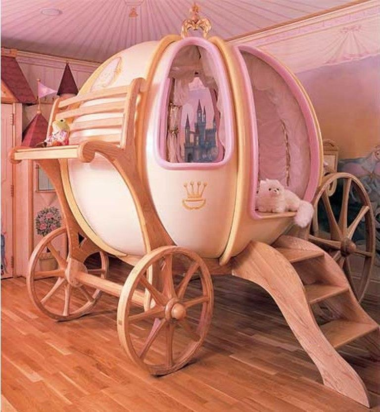 Beautiful Dreamy Cinderella Carriage Bed Designs For Girls