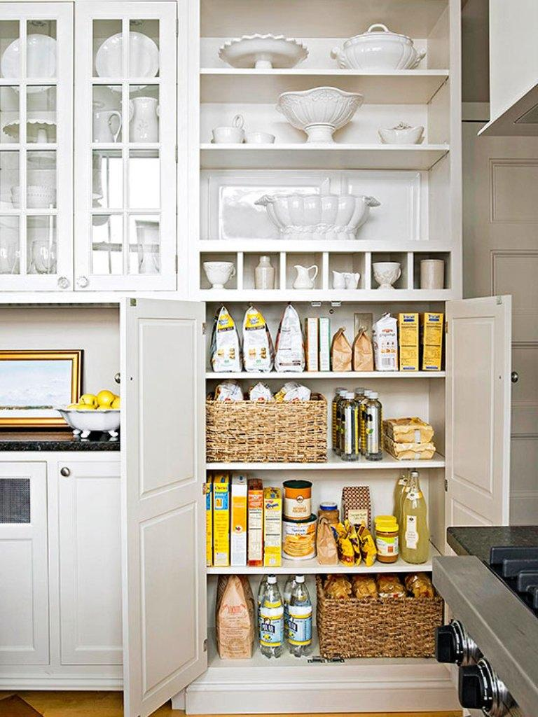 20 Smart White Kitchen Pantry Cabinets - Rilane