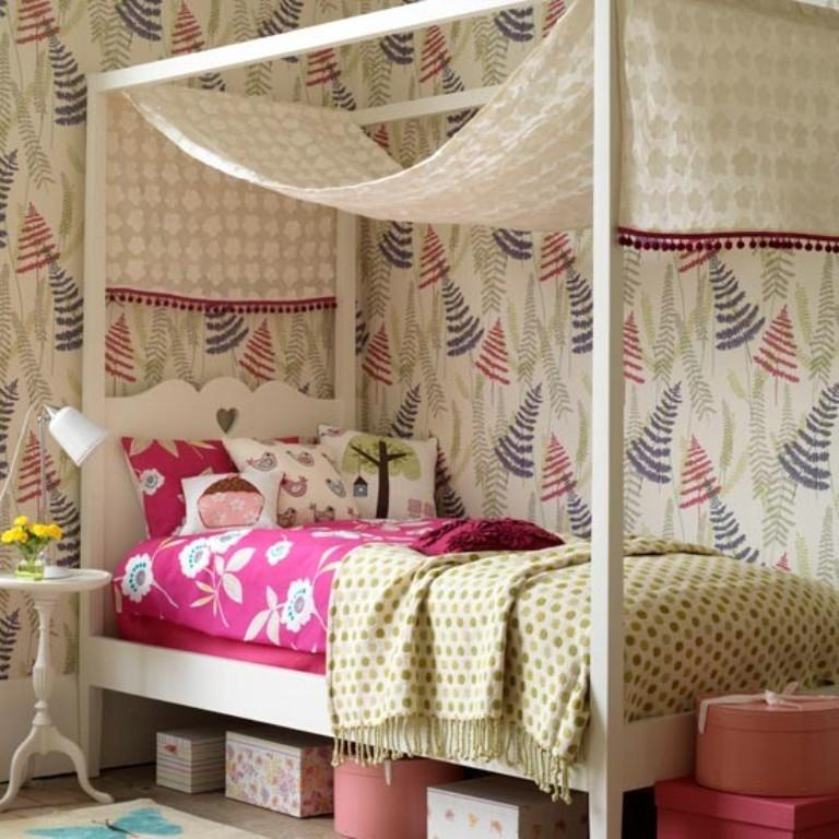 10 Beautiful Wallpaper Designs For Girl S Bedroom Rilane