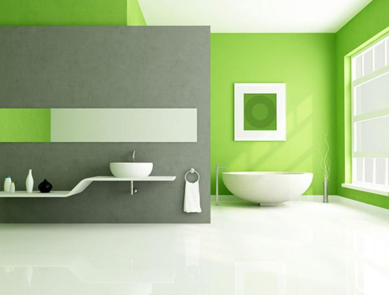 Refreshing Green Bathroom Design Ideas