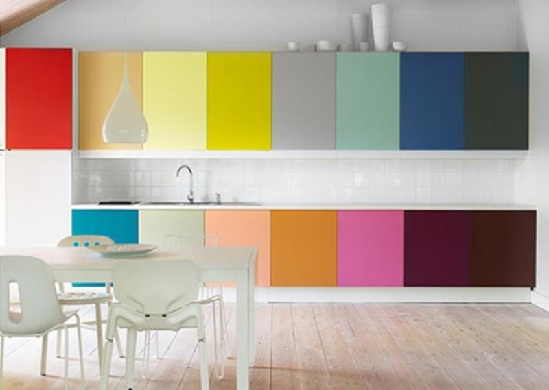 Contemporary Rainbow Kitchen
