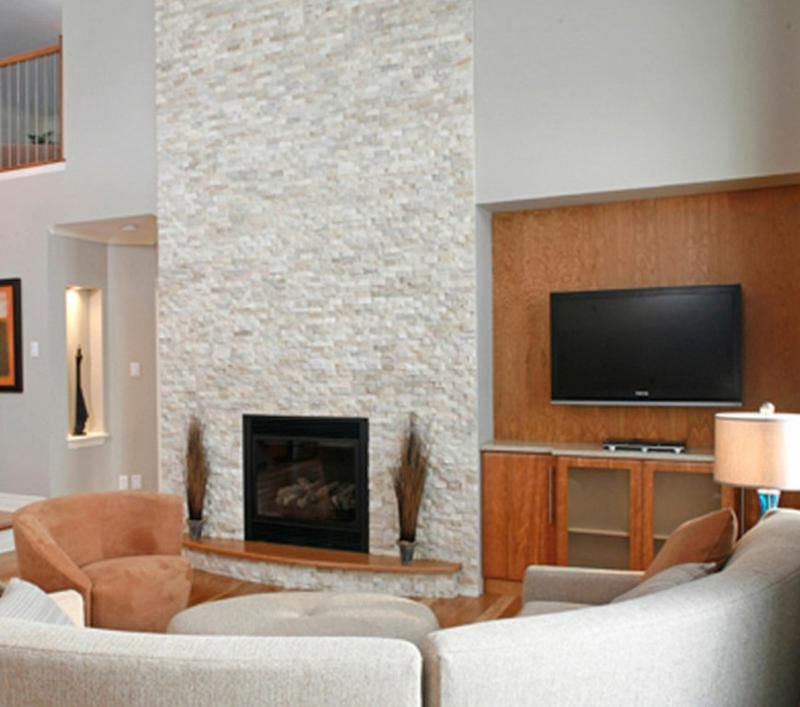 Modern Stone Fireplace Fair Stunning Living Rooms With Stacked Stone Fireplace  Rilane Inspiration